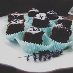 Brownies met lavendel ganache