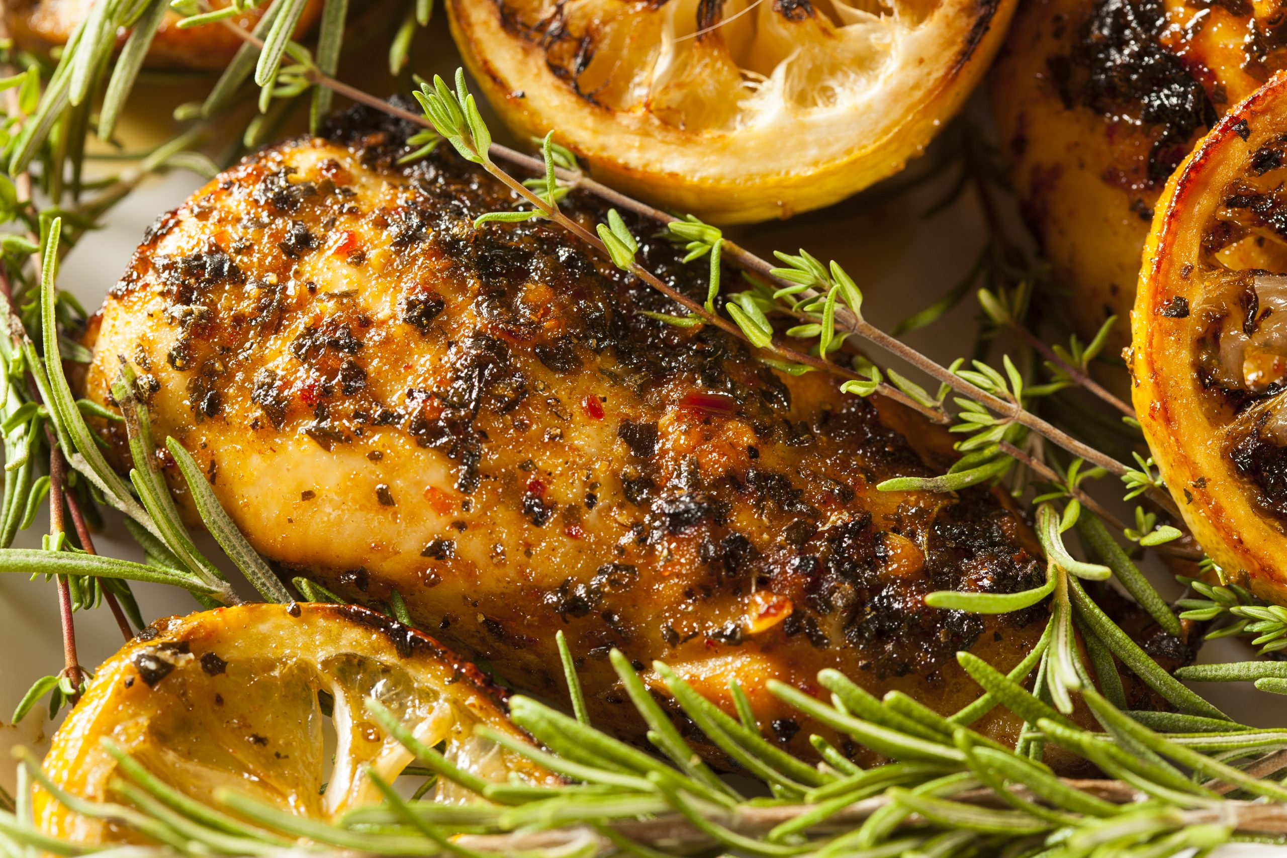 Kruidige kip met citroen